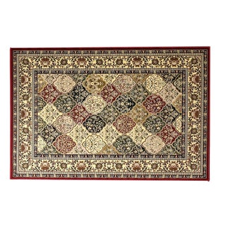 Oh! Home Persian Treasures Kerman Multicolor Oriental Polypropylene Rectangular Area Rug (5' x 7'6-inch)