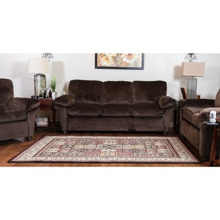 Oh! Home Persian Treasures Bakhtiari Oriental Polypropylene Rectangular Area Rug (5' x 7'6-inch)