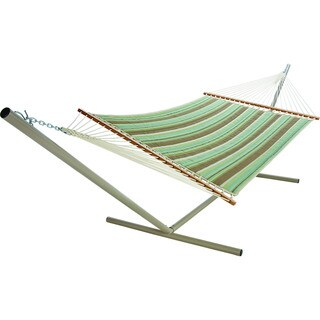 Large Miramar Stripe Quilted Fabric Hammock