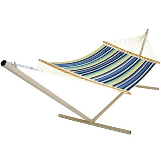 Large Beaches Stripe Quilted Fabric Hammock