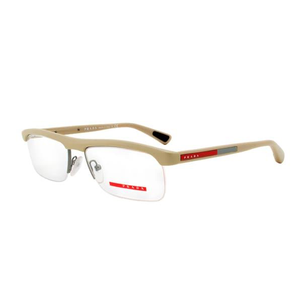 Eyeglass Frame Size 55 : Prada Eyeglass Frames VPS 04C OAG-1O1, Beige and Gunmetal ...