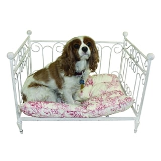 Antique White Iron Pet Day Bed
