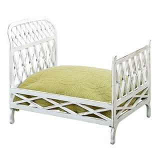 Antique White Iron Lattice Design Pet Bed