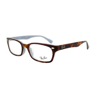 Ray-Ban RX 5150F 5238 Rectangular Eyeglass Frames, Tortoise and Grey Frame, Size 52