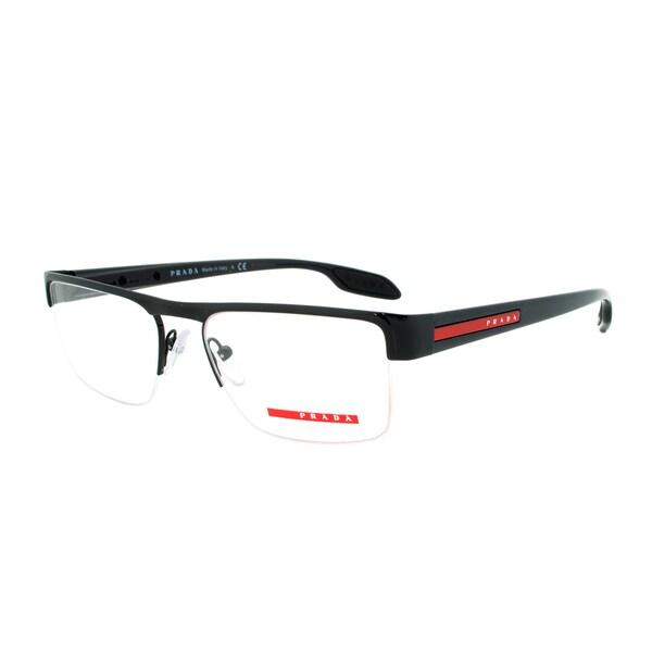 Eyeglass Frame Size 51 : Prada Eyeglass Frames VPS 57E 7AX-1O1, Black Frame, Size ...