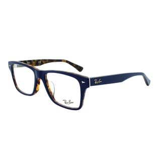 Ray-Ban RX 5308F 5219 Square Eyeglass Frames, Blue and Tortoise Shell Frame, Size 53