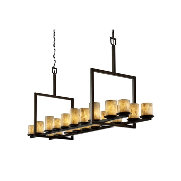 Justice Design Group Alabaster Rocks 20-light Dakota Chandelier