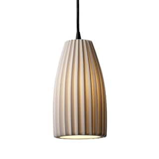 Justice Design Group Limoges 1-light Small Pendant, Pleats