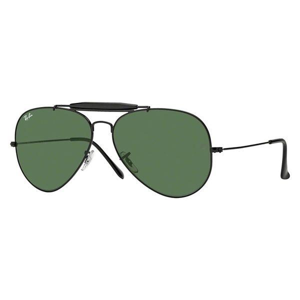 Ray-Ban Aviator Sunglasses RB 3029 L2114, Gunmetal Frame, Green Mirror Lens