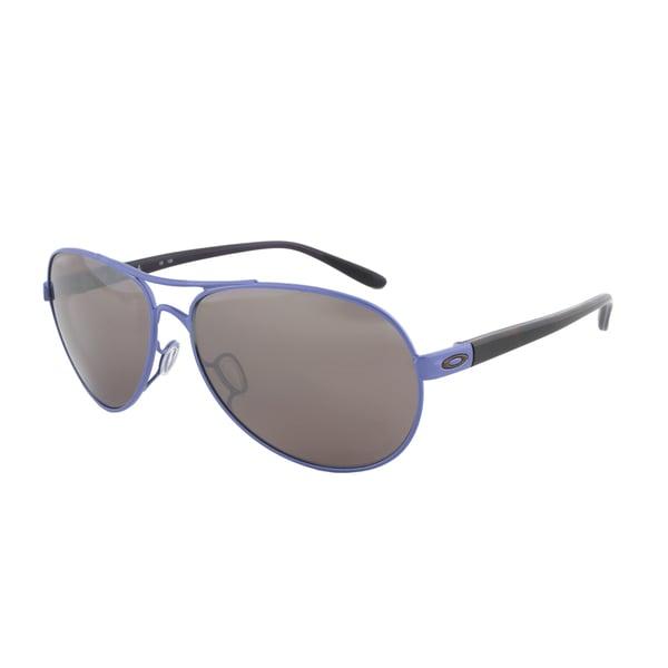Oakley Feedback Sunglasses OO4079-09, Wisteria Pearl Frame, Black Iridium Polarized Lens