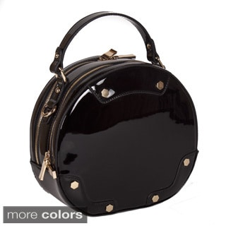 Lithyc 'Vixen' Patten Round Vegan Leather Tote Handbag