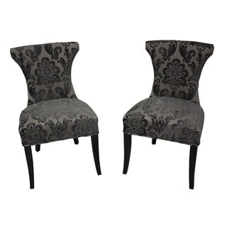 Cosmo Mink Fan Damask Dining Chair (Set of 2)