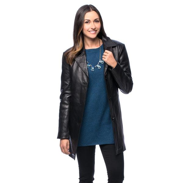 NuBorn Leather Women's Katie Walking Coat - Size 4XL (As Is Item)