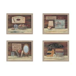 Pam Britton 'Bathroom Collection 2' Framed Print Art