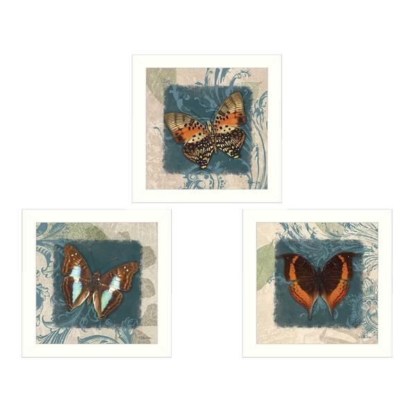 Dee Dee 'Butterflies' Framed Print Art