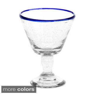 Set of 4 Recycled Wine Glass (Guatemala)