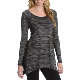 Chelsea & Theodore Women's Long Sleeve Heathered Top