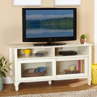 Simple Living Layla Antique White TV Stand