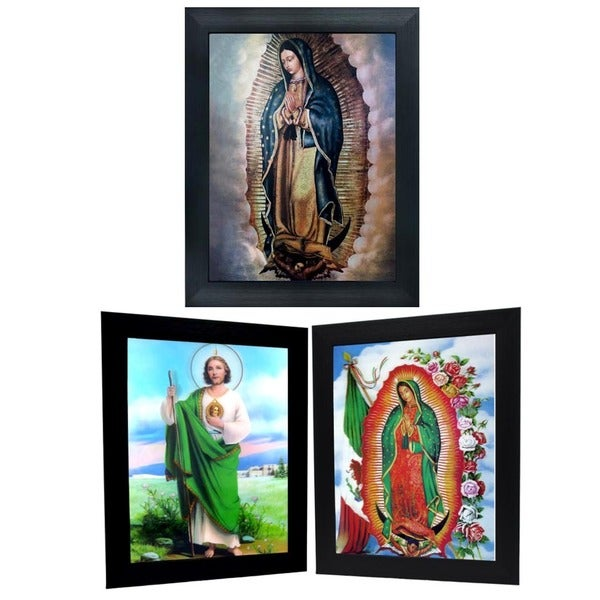 Virgin Marry and St. Judas Framed 3D Wall Art