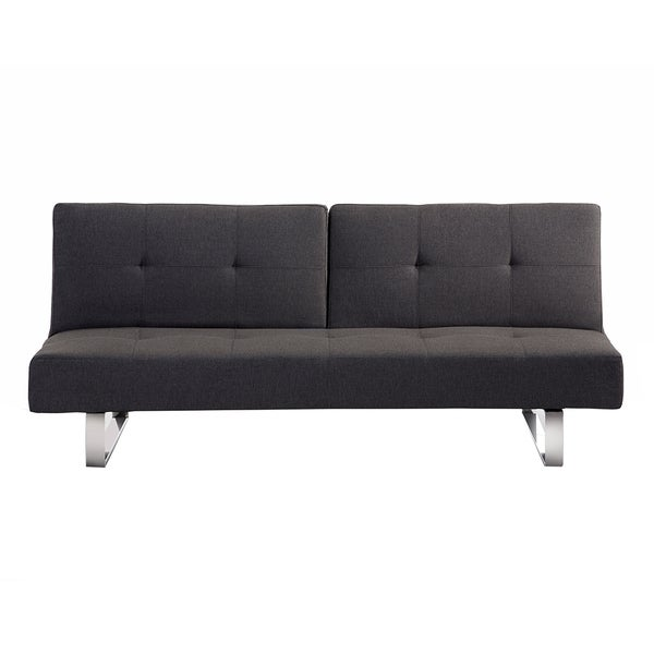 Dublin Upholstered Sofa Bed/ Convertible Sleeper Sofa, Dark Grey