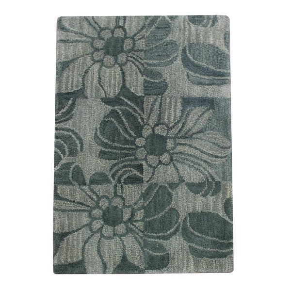 Hand-tufted Modena Grey Area Rug (2' x 3')