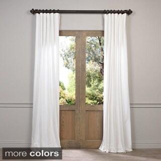 EFF Vintage Cotton Velvet 108-inch Length Curtain
