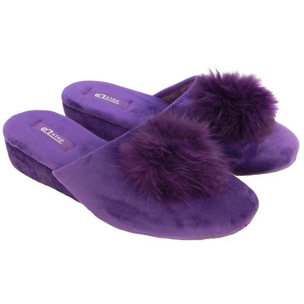 Vecceli Women's Casual Purple Slippers