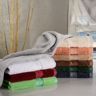Miranda Haus Rayon from Bamboo and Cotton Hand Towel Set (Set of 6)