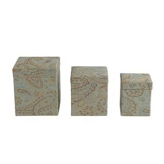 Jennifer Taylor Paisley Fabric Boxes (Set of 3)