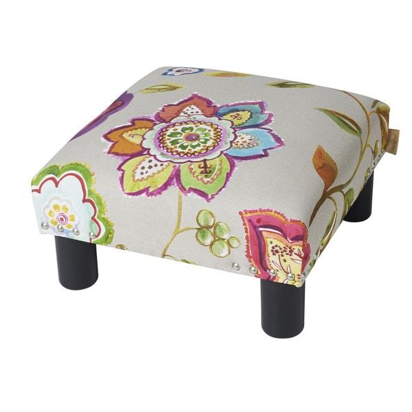 Jennifer Taylor White Upholstered Ottoman