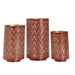 Elements Red Metal Luminaries (Set of 3)