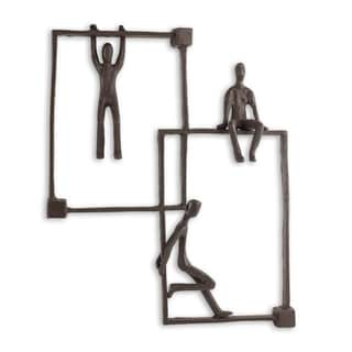 Danya B Playful Kids on Frames Iron Wall Hanging