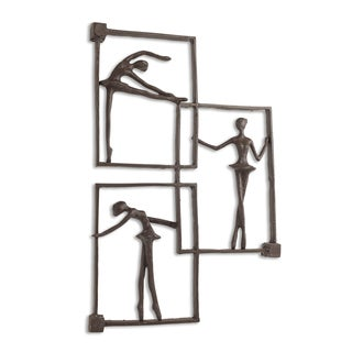 Danya B Ballerina Poses on Frames Iron Wall Hanging