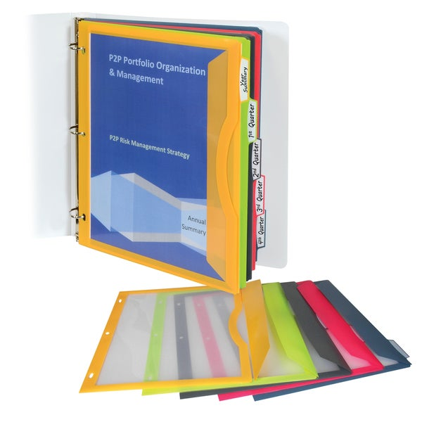 C-Line Products Binder Pocket with Write-on Index Tabs (Set of 30)