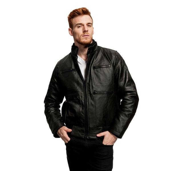 Men's Grant Leather Zip Jacket