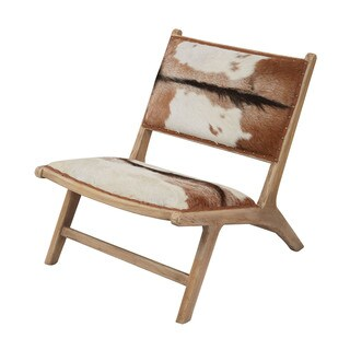 LS Dimond Home Goatskin Leather Lounger