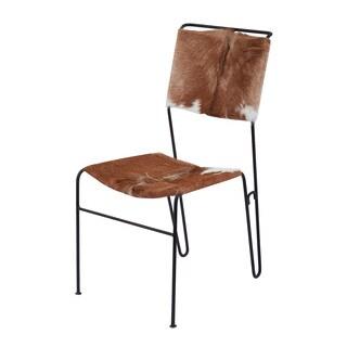 LS Dimond Home Goatskin Tuft Side Chair