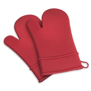 Red Silicone Mitt (Set of 2)