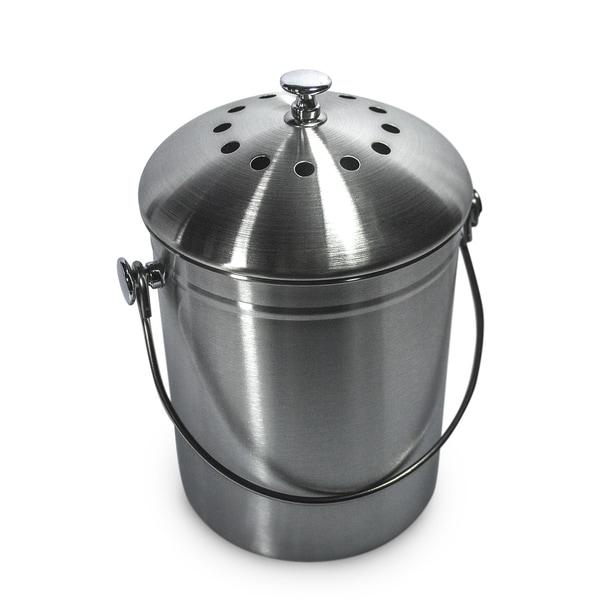 Stainless Steel 1-gallon Compost Bin