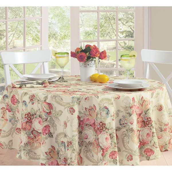 Waverly Spring Floral Micro Fiber Table Cloth