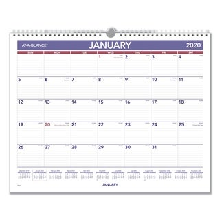 AT-A-GLANCE 2016 Monthly Wall Calendar
