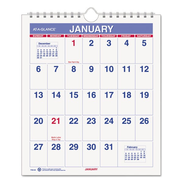 Mini Monthly 2016 Wall Calendar