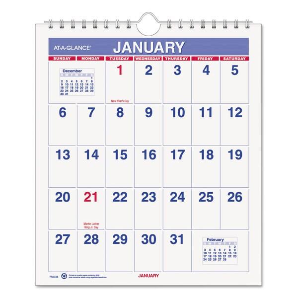 Mini Monthly 2016 Wall Calendar