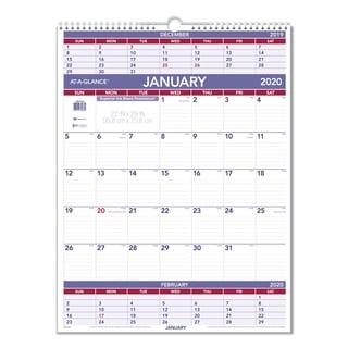AT-A-GLANCE Three-Month 2016 Wall Calendar