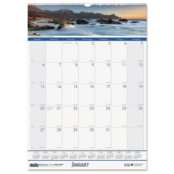 Coastlines 2016 Monthly Wall Calendar
