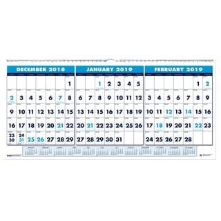 House of Doolittle Three-Month Horizontal Format Wall Calendar (2015-2017)