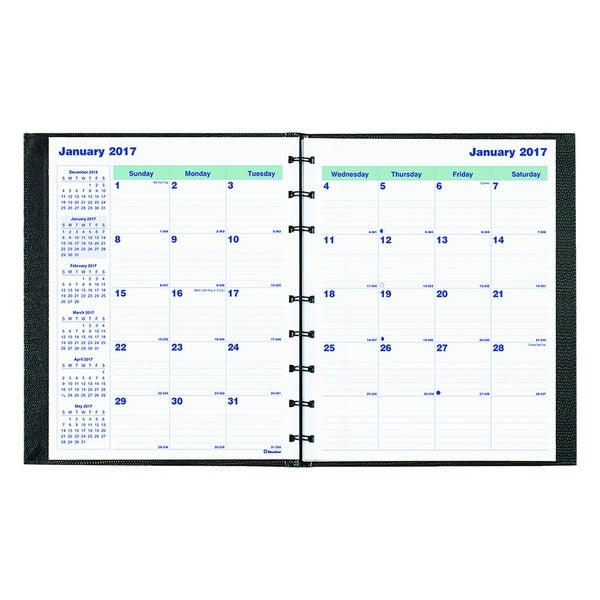 Blueline MiracleBind 2015-2016 Black 17-Mo. Academic Planner (Aug. 2015-Dec. 2016)