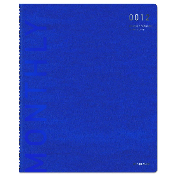 At-A-Glance Polished Professional 2016 Blue/Silver Monthly Planner