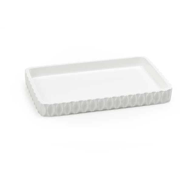 Wave White Amenity Tray