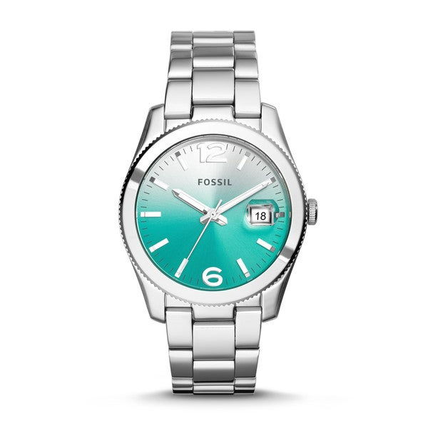 Fossil women 39 s perfect boyfriend green gradient dial stainless steel watch es3779 17473779 for Gradient dial watch